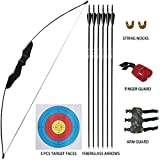 D&Q Archery Recurve Bow and Arrow Set for Adult Youth Junior Beginner Outdoor...