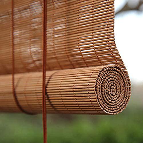 Stores à Enroulement en Bambou,Rideau Occultant en Bambou Extérieur Intérieur,Stores Venitien Bois,Rétro Respirant écologique Naturel,pour Fenêtres,Jardins,Belvédères (50x180cm 20x71in)