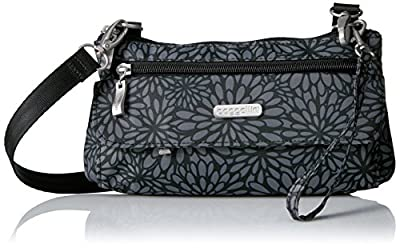 Baggallini womens Plaza Mini, pewter floral, One Size