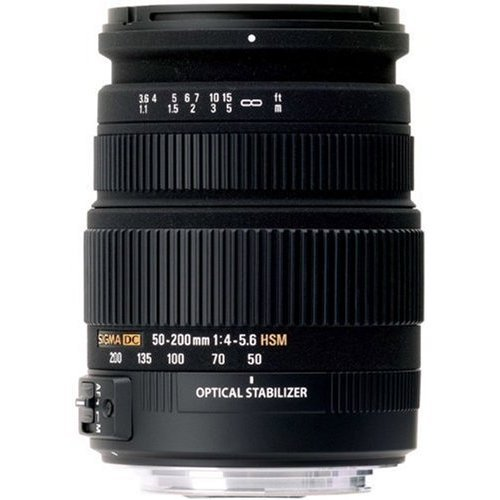 Sigma - Objetivo 50-200 mm f/4,0-5,6 DC OS HSM (rosca para filtro de 55 mm) para Nikon