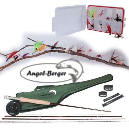 Angel-Berger Fliegencombo Fliegen Set fertig montiert inkl. 10 fängigen Fliegen