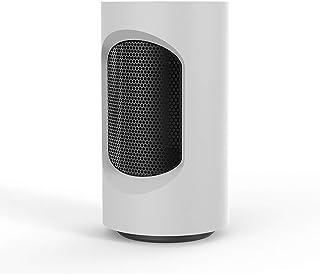 WLNKJ Mini Inteligente Calefactor Cerámico, Espacio 50 ° Cabezal Agitador Smart Touch Protección Antivuelco Bajo Ruido Portátil - para Oficina Y Dormitorio 600W,Blanco
