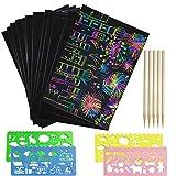 Scratch Art for Kids, Rainbow Scratch Paper Arte e artigianato per bambini Magic Scratch Note artistiche Cartoncini Doodle Pad (50 fogli)