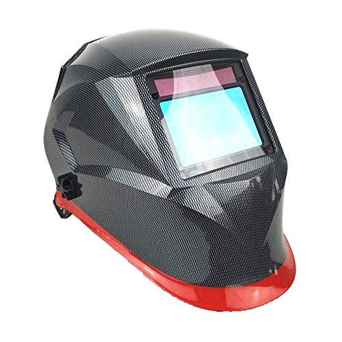 NGHSDO Careta Soldar Automatica Casco de Soldadura 100 * 65mm Sensores Molending Auto Solar Darking Solding Mask Mascaras De Soldar (Color : Carbon Red)