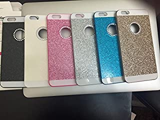 iPhone 6 Case Luxury Hybrid PC Hard Shiny Bling Glitter Sparkle with Crystal Rhinestone Cover Case for Apple iPhone 6 (Blue)