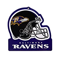 "Party Animal Baltimore Ravens Embossed Metal NFL Helmet Sign, 8"" x 8"""