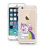 iPhone Cover di licaso® per il Apple iPhone 6 & 6S di TPU Silicone Unicorno Nuvola Arcobaleno Unicorn Cloud Modello molto sottile protegge il tuo iPhone 6 & 6S con stile Cover e Bumper