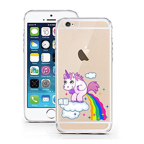 iPhone 6 6S Hülle von licaso kompatibel für das Apple iPhone 6 & 6S aus TPU Silikon Einhorn Wolke...