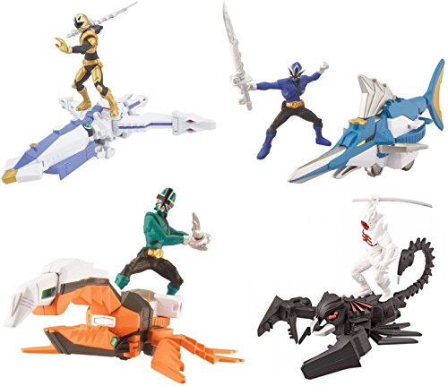 Power Rangers Super Samurai Zord & Figure Set with OcotoZord, SwordfishZord, BeetleZord & Scorpion Creature Figure
