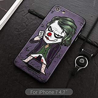 Batman iPhone Covers Xs Max/iPhone XR The Joker Case Red Riding Hood Cases Wonder Women Cases Jack Sparrow Funny Cute Characters iPhone Flexible Cases (The Joker, iPhone XR)