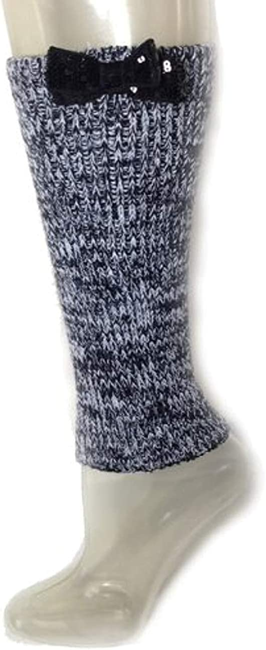 Betsey Johnson Women's Leg Warmers, Black/White, One Size