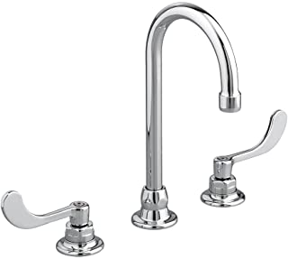 American Standard 6540.170.002 Monterrey Widespread 1.5 Gpm Gooseneck Faucet with VR Wrist Blace Handles Less Drain, Polis...