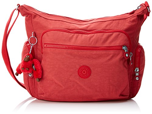 Kipling Gabbie, Women's Cross-Body Bag, Rot (Spicy Red C), 35.5x30x18.5 cm (B x H T)