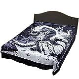 Regal Comfort Black Dragon Queen Size Blanket Medium Weight