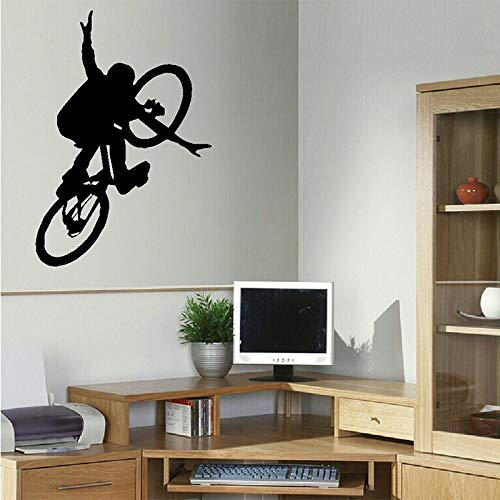 Vcnhln Bicicleta niños Arte Dormitorio Pegatinas de Pared calcomanías de Pared calcomanías de Acero 55x80cm