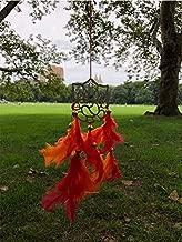 rooh Handmade Hanging Dream Catcher for Positivity (Orange Red)