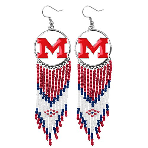 NCAA Ole Miss Rebels Dreamcatcher Earring