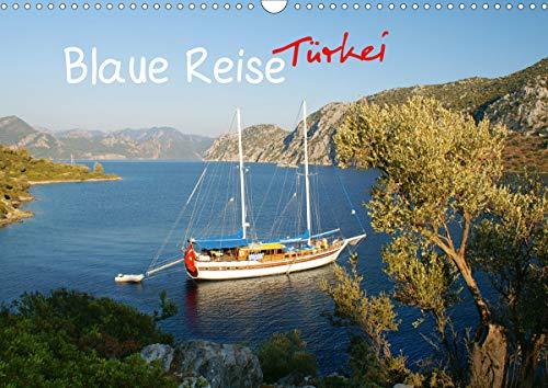 Blaue Reise Türkei (Wandkalender 2021 DIN A3 quer)