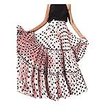 Gusspower Mujer Falda Maxi Vintage Casual Tallas Grandes Cintura Alta Impresión de Lunares Falda Larga...