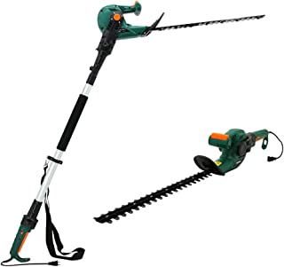 DOEWORKS Electric Corded 3 in 1 Extended Hedge Trimmer on Pole with Rotating Handle, 20