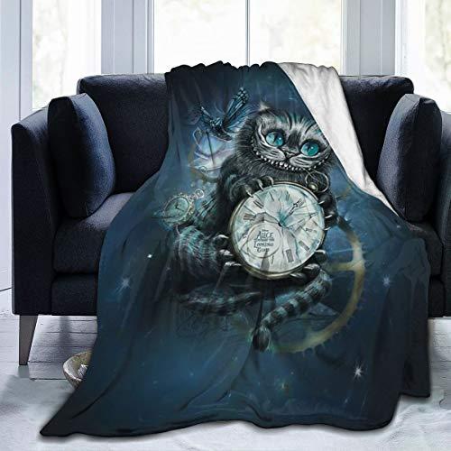 FASHIONDIY Alice im Wunderland Decke, übergroß, warm, für Erwachsene, superweiche Decke mit weichem Anti-Pilling-Flanell, für Erwachsene und Kinder, 3D-Druck, 203,2 x 152,4 cm