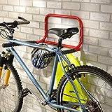 Bricoloco Soporte bicicleta de pared plegable para 2 bicicletas. Guardar y mantener las bicicletas bien ordenadas. Se pliega si no se usa. Solución de espacio para su hogar o garaje. (1 unidad)