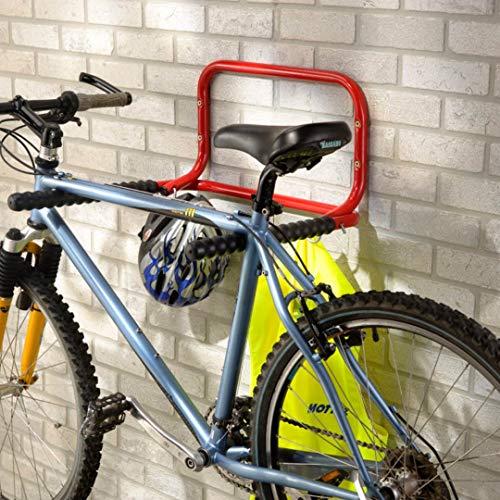 Bricoloco Soporte bicicleta de pared plegable para 2 bicicletas. Guardar y mantener...