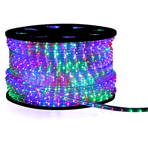 Guirnalda de luces LED con función de parpadeo, 50 m, multicolor, 50...