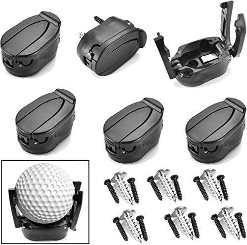 Brccee AC 6 PCs Golf Ball Pick Up Retriever Grabber Claw Sucker Tool Mini Foldable Plastic Claw Grabber Sucker Golf Accessories