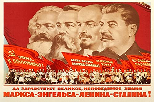 Communistische Propaganda Poster, Marx, Friedrich Engels, Lenin, Stalin Canvas Prints Posters Muur Art Woonkamer…