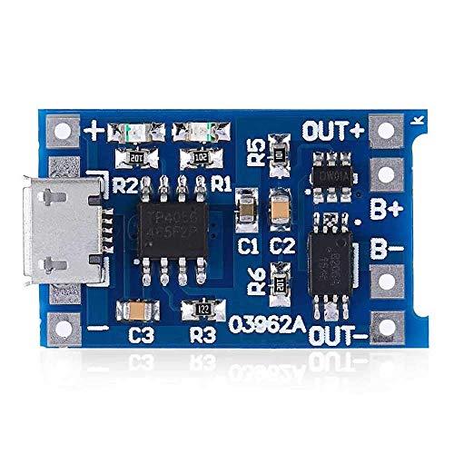 CESULIS 10 unids Micro USB 5 V 1A 18650 TP4056 batería de litio módulo carga con protección Funciones duales 1A Li-ion