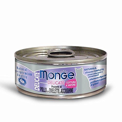MONGE - MONGE DELICATE POLLO CON OMELETTE E ACCIUGHINE 80 GR. - 0583