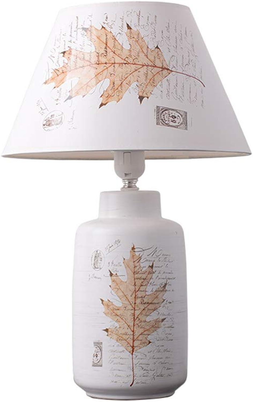 Nachttischlampener Yhz@ Keramische Tischlampe Schlafzimmer, Nordic Kreative Einfache Moderne Mode Warme Tischlampe, 220 V E14 Lampe Mund (gre   5712)