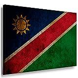 Flagge Namibia Leinwandbild / LaraArt Bilder / Leinwand Bild + Mehrfarbig + Kunstdruck XXL fl22-7 Wandbild 150 x 100 cm