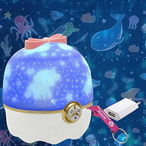 Luminária Infantil Projetor Abajur Criança Recarregável USB + Chaveiro CBRN18529