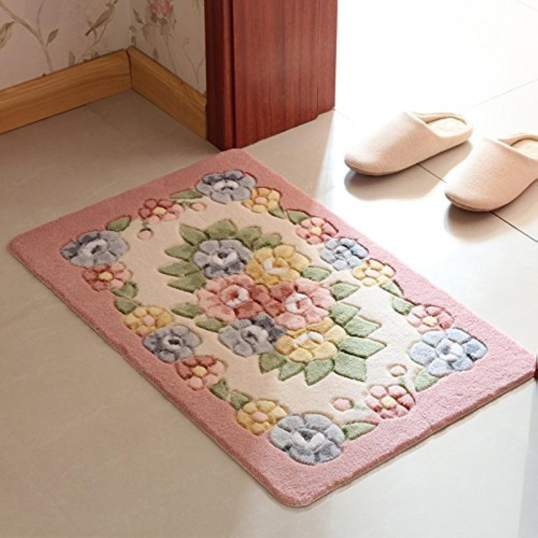 DIDIDD Carpet Door Entrance Hall Kitchen Mat Bedroom Feet Toilet Water Absorption of Anti-Skid Mats