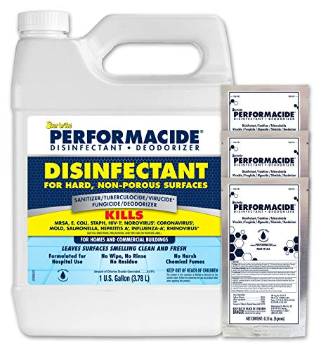 Performacide-102000SS Hospital & Home Disinfectant - 3 Gallon Kit - Effective Against Coronavirus, Influenza-A, Rhinovirus, Norovirus, MRSA - Just Add Water - No Rinse, No Wipe, EPA Registered