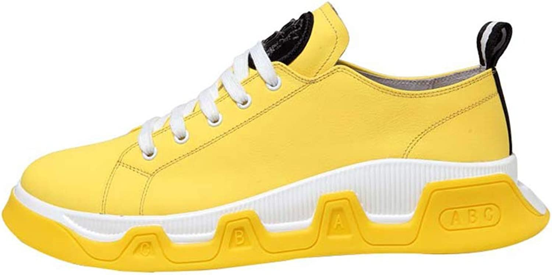 LEFT &Right Mans Casual skor Joker skor läder skor mode mode mode Trends Autumn skor ljusljus springaning skor Fitness Gym skor gul skor  till salu 70% rabatt