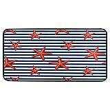 HaJie - Felpudo para puerta con diseño de estrellas de mar,...