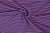 Jersey-Stoff, gestreift, Jersey, 0,5 m, 95 % Baumwolle, 5 %