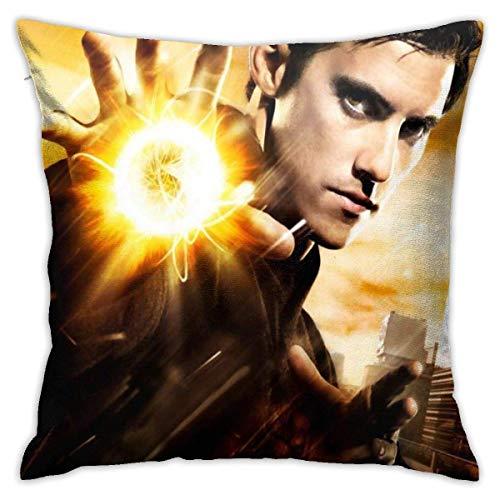 LUCKY Home Sci-Fi TV Heroes - Fundas de almohada decorativas de algodón para salón, sofá, cama, fundas de almohada suaves, 45 x 45 cm