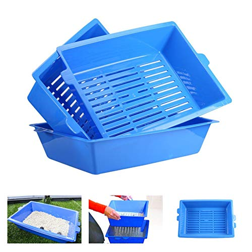 Cat Litter Box,3 Sifting Cat Litter Box,Self Cleaning Litter Boxes for Cats,No Need to Litter Scoop Lazy Litter Tray Can Reused,Easy to Clean and Sieving Cat Litter Box