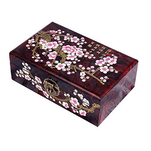 Cajas de joyería de, Caja de joyería, Caja de Almacenamiento Chino, Caja de Vestir, Caja de joyería, Caja de joyería de Laca, Ciruela Dorada