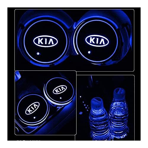 Posavasos LED Coche 2x 7 colores Tenedor de copa de coche LED para KIA K3 K5 KX7 SPORTAGE USB Mat de carga Luminescente Pad Lámpara de atmósfera interior acrílico Carga USB ( Color Name : FOR HONDA )