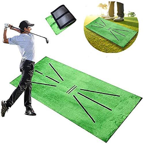 LVTIAN Golf Training Mat, Swing Detection Batting Mini Golf Putting Practice Training aid Mat, Portable Golf Hitting Training Turf Mat Gift for Home Office Outdoor Use (12  X 24 )