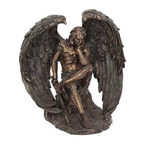Nemesis Now Figur Lucifer der gefallene Engel, 21 cm, bronzefarben