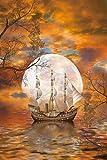 MTAMMD Puzzles Moon Boat De Madera 5000 Piezas Rompecabezas para Adultos 500/1000/2000 Piezas Juguetes De Poder Intelectual Regalos para Niños-1000Pieces