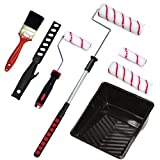 Paint Roller Kit - Transform your House with Floor, Ceiling & Wall Painting Supplies - Extendable Pro Paint Roller for Home or Commercial Use - Replacement Rollers Set, Small Paint Brush, Tray & More!