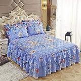 CYYyang Protector de colchón, algodón, poliéster, Hoja de Cama de Encaje de Falda de Cama gruesa-28_200 * 220cm