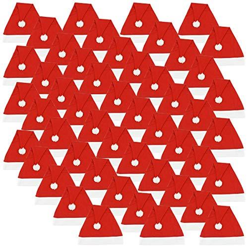 Ciffre 800 Stück im Set Weihnachtsmütze Nikolausmütze Winter Mütze Mützen Nikolaus Santa Rot